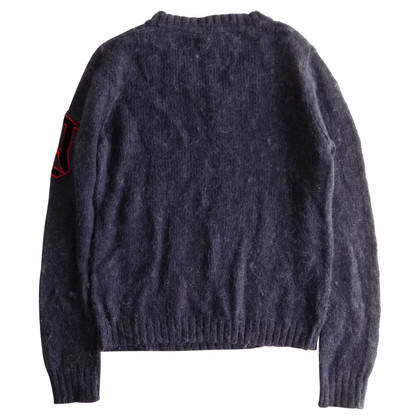 John Galliano Wollpullover in Blau