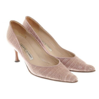 Manolo Blahnik pumps leer