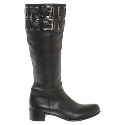Miu Miu Leather boots in black