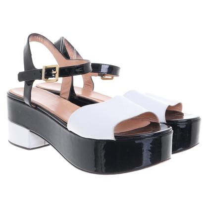 Robert Clergerie Platform sandals in bicolour