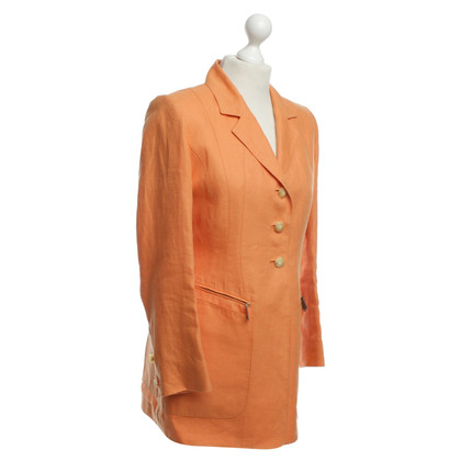 Hermès Leinenblazer in Orange