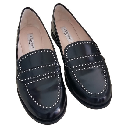 L.K. Bennett Leren loafers