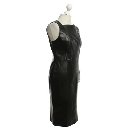 Versace Leather dress in black