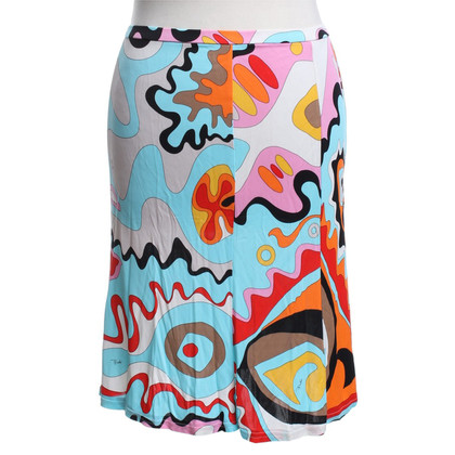 Emilio Pucci skirt with colorful pattern