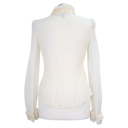 French Connection Transparent blouse in cream