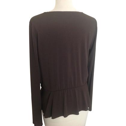 Max Mara Blouse shirt in bruin
