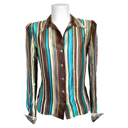 Chloé Silk blouse with striped pattern