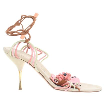 Missoni Sandals with flower appliqués