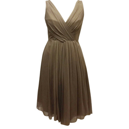 Elie Tahari Silk Cocktail Dress Gold