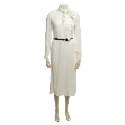 Valentino Cream-colored long silk dress