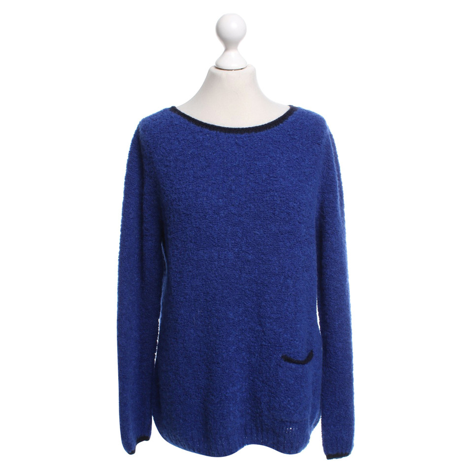 marc cain sweater in blue buy second hand marc cain sweater in blue for. Black Bedroom Furniture Sets. Home Design Ideas