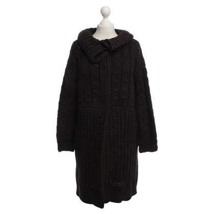 Schumacher Knitted coat in purple