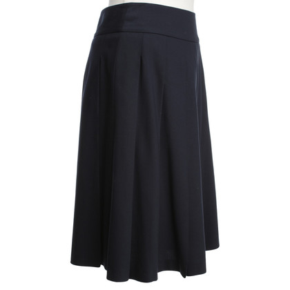 Max Mara Folding skirt in dark blue