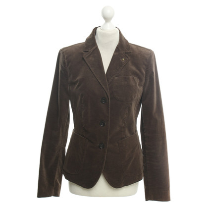 Blonde No8 Velvet blazer in brown