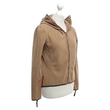 Prada -Camel kleurige fleece jas