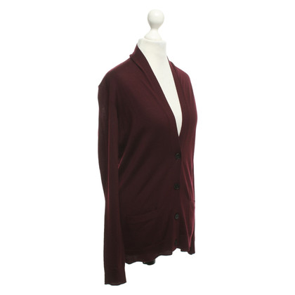 Windsor Cardigan in bordeaux red