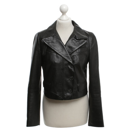 Strenesse Blue Leather jacket in black