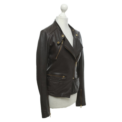 Maje Leather jacket in brown
