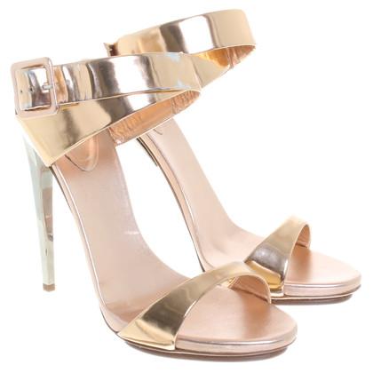 Giuseppe Zanotti Sandals in metallic-look