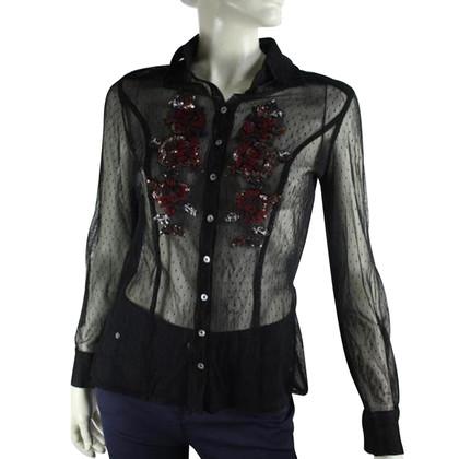 Luisa Cerano Semitransparante blouse
