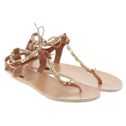 Ancient Greek Sandals Sandali a Brown