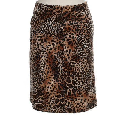 Hobbs skirt with leopard pattern