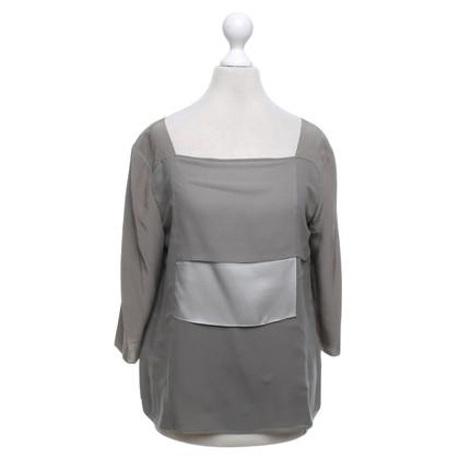 Schumacher Zijden blouse in grijs