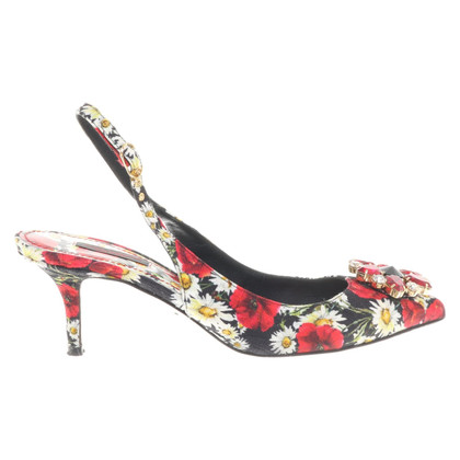 Dolce & Gabbana Slingbacks with a floral pattern