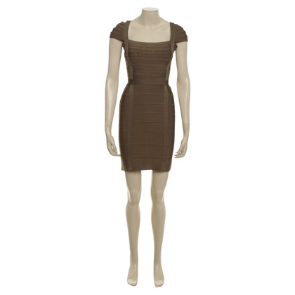 Hervé Léger Olive Bandage Dress