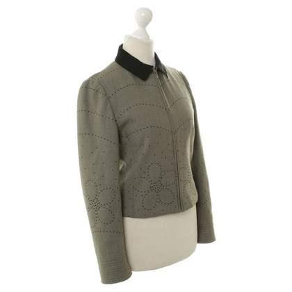 Moschino Wool Blazer with embroidery