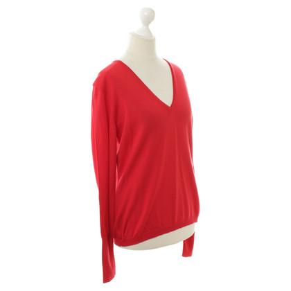 Hugo Boss V neck sweater in red