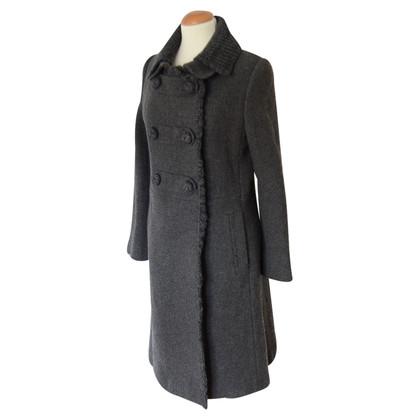 Prada cappotto Gray tweed con dettagli