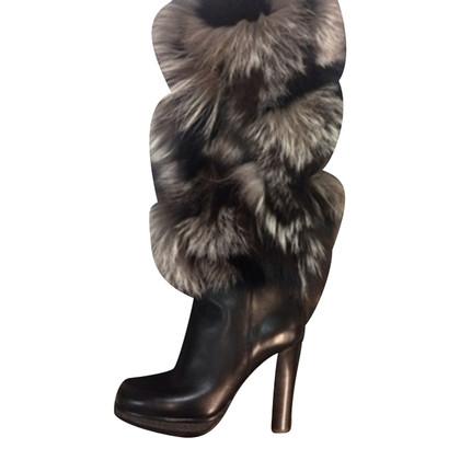 Dolce & Gabbana Stiefel mit Echtfell