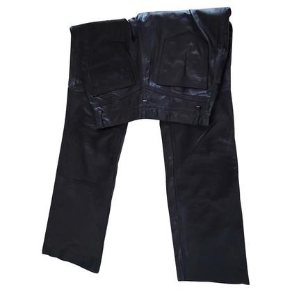 Closed Pantaloni di pelle in nero