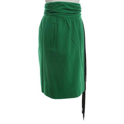 Hermès Green cashmere skirt