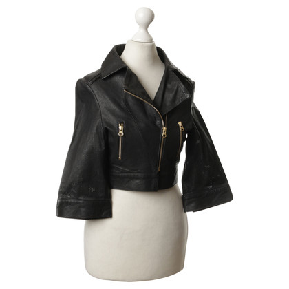 Preen Leather jacket with perforations
