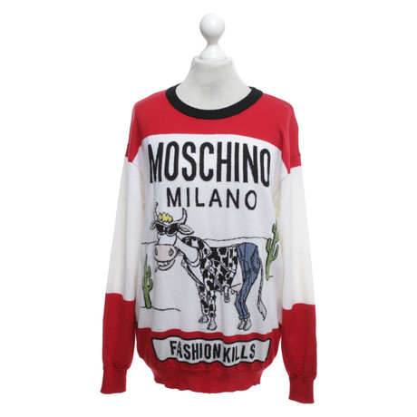 Muster Tricolor in Pullover Muster Bunt in Tricolor Bunt Pullover Pullover Muster Moschino Tricolor in Bunt Moschino Moschino Moschino YqIAEx5Pw