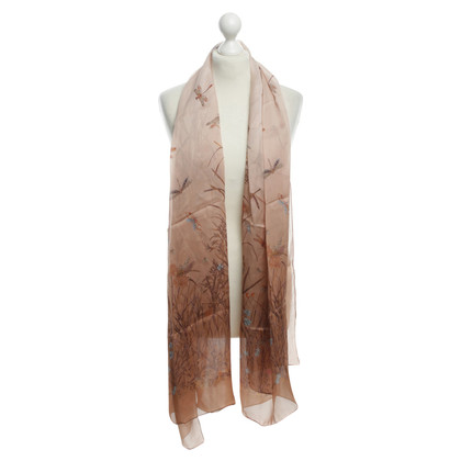 Gucci silk scarf in nude
