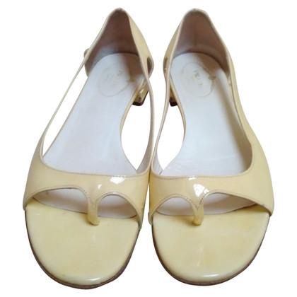Prada Laksleren sandalen