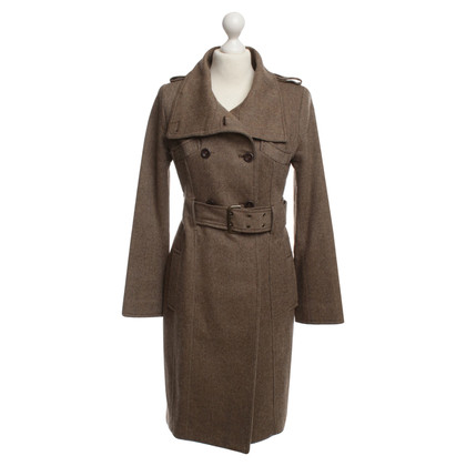 Patrizia Pepe Tweed coat in Brown