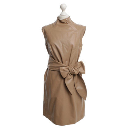 Céline Leather dress in beige