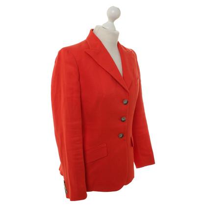 Ralph Lauren Leinen-Blazer in Rot