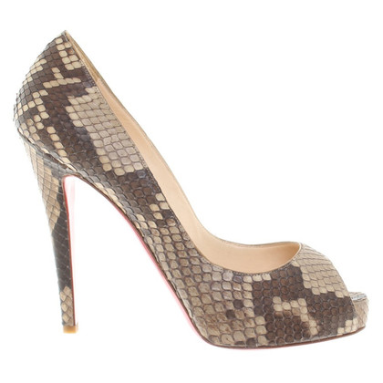 Christian Louboutin Peeptoes from snake leather