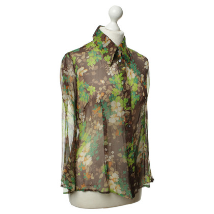 D&G Silk blouse with flower pattern