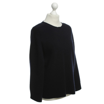 Helmut Lang Pullover in maglia blu scuro
