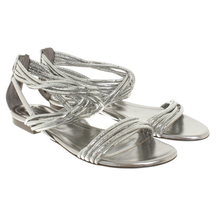 Burberry Silver colored sandals