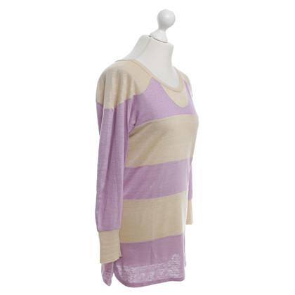 Isabel Marant Leinen Shirt in Beige/Violett