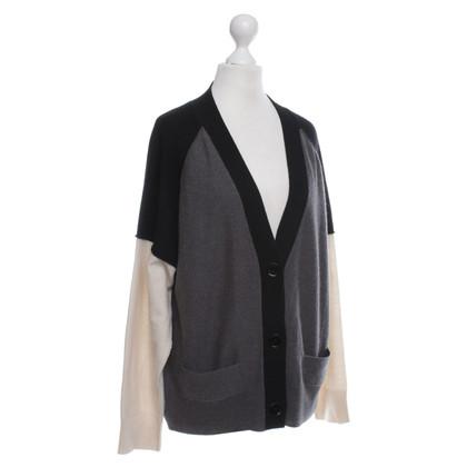 Sonia Rykiel Cardigan in grigio / nero / beige