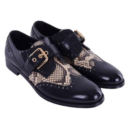 Dolce & Gabbana Slipper con pelle di serpente