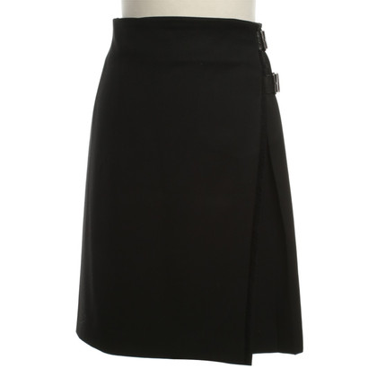 Burberry Wool skirt with leather belt